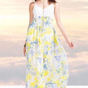 NWT Maxi dress. Open back.